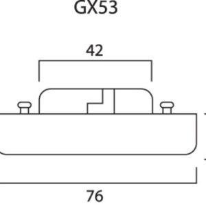 SYLVANIA MICRO-LYNX GX53 3W 3000K