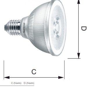 PHILIPS MAS LEDspot CLA D 9.5W 840 PAR30S 25D