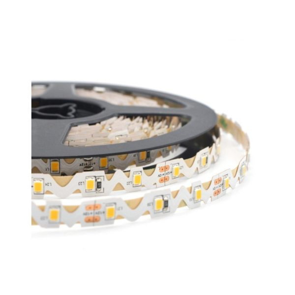 LED TRAKA 2835 S SHAPE 5W/m 24V 3000K IP20 SUPER BRIGHTNESS