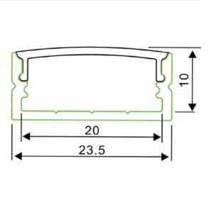 LED PROFIL NADGRADNI ALP014