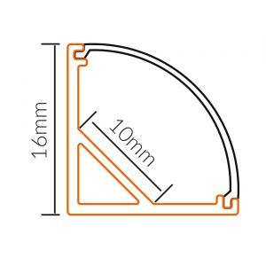LED PROFIL NADGRADNI UGAONI BS504