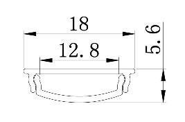 LED PROFIL NADGRADNI ALP 114 SAVITLJIVI