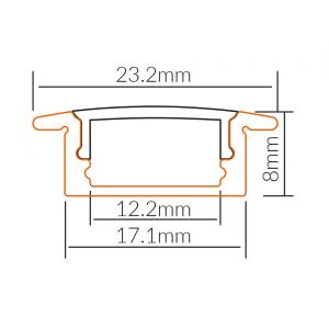 LED PROFIL UGRADNI ALP001-R