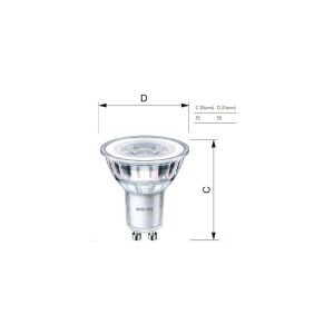 PHILIPS LED CLASSIC 4.6W 3000K GU10