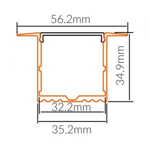 LED PROFIL UGRADNI ALP017-R