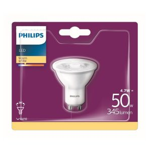 PHILIPS LED  4.7W 2700K GU10