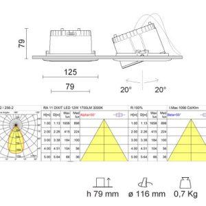 IVELA RA11 DIXIT LED 256-200BN-21 1700lm